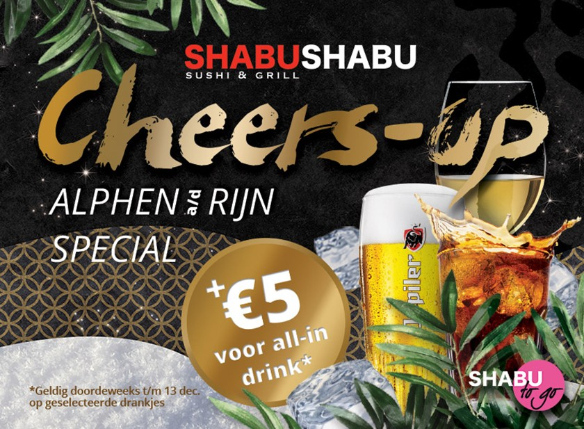 Cheers-up Special bij Shabu Shabu