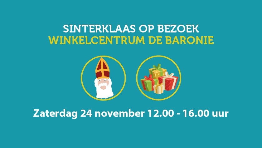Zaterdag 24 november Sinterklaas in de Baronie